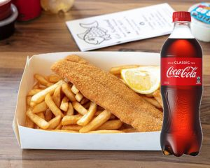 fish and chips 600ml drink